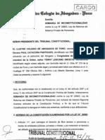 Demanda de Inconstitucionalidad Contra Ley 29903 Ley de Reforma SPP