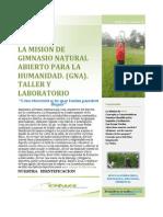 BOLETIN 1 - GIMNASIO NATURAL ABIERTO PARA LA HUMANIDAD. TALLER Y LABORATORIO. GNA