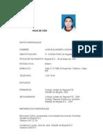 Hoja de Vida Juan Alejandro Lozano Bernal
