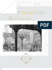 Metropolitan Archivist, Vol. 19, No. 1