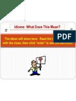 Idiom Class Set1
