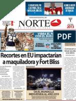 Periodico Norte de Ciudad Juárez 1 de Enero de 2013
