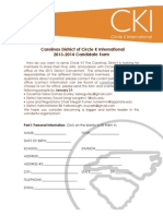 2013 Candidate Form