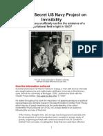 Project Invisibility (1943)