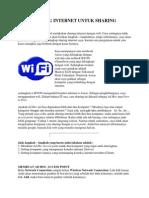 Cara Setting Internet Untuk Sharing Dengan Wifi