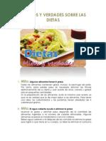 10 Mitos y Verdades Sobre Las Dietas