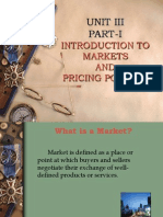Introduction to Markets and Pricing Policies