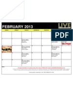 Live at the Bike 2013 February Schedule