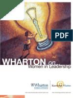 Wharton on Women in Leadership