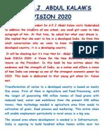Apj Abdul Kalam's vision 2020.docx