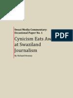Cynicism Eats Away at Swaziland Journalism
