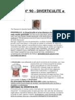 Crónica Nº 90 - DIVERTICULITE e FIBRAS