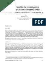 Música y medios de comunicación- en torno a Glenn Gould (1932-1982)