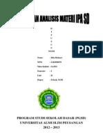 Artikel Dan Analisis Materi IPA SD