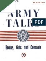Army Talks 1944 - Brains Guts & Concrete