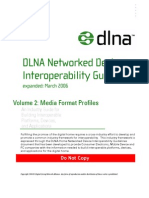 DLNA Networked Device Interoperability Guidelines: Media