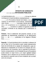 COMODATO ENTRE DOS ENTINDADES PUBLICAS