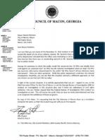 Councilman Ficklin's Letter to Mayor Reichert
