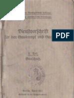 Dienstvorschrift für den Gaskampf und Gasschutz - II. Teil Gasschutz / Berlin April 1917