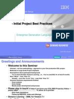 EGL Project Best Practice-December