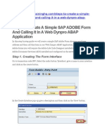 Steps to Create a Simple SAP ADOBE Form
