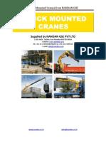 Truck Mounted Cranes - Nandan GSE - Copy
