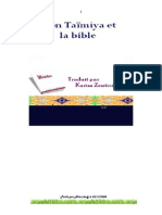 IBN TAYMIA ET LA BIBLE