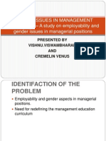 Gender Issues in Management Education