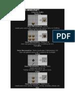 Minecraft Itens e Combinações