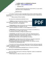 Dicas de português para prova Conjunções