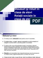 Stausuri Si Roluri in Clasa de Elevi - Relatii Sociale in Clasa de Elevi