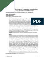 Jr. Validitas Konstruk Play-Based Assessment Dibandingkan Dengan Child Behavior Checklist Kemampuan Sensorimotor Anak
