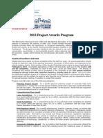 The NACP 2013 Project Awards Program