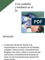 aplicacion de los cuidados inmediatos y mediatos del recien nacido