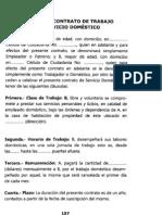 CONTRATO DE TRABAJO DE SEVICIO DOMESTICO