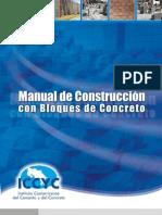 Colocación de bloques de concreto (Bloque Gris)