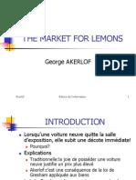 Fl 16 the Market for Lemons