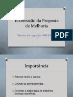 proposta de melhoria