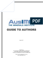 Ausimm Guide to Authors 2011