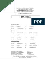 Campeonato 2012 Fixture 34