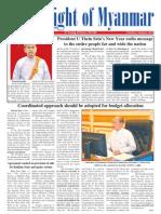 New Light of Myanmar (1 Jan 2013)