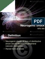 Neurogenic Shock in Critical Care Nursing