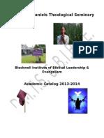 Academic Catalog 2013-2014