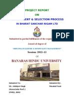 Selection & Recruitment in BSNL