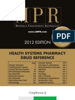 MPR Teva 2012 Health Systems Pharmacy Drug Reference