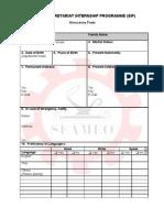 Application Form Internship