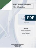 Report on labor policy Bangladesh