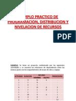 4_ejemplo Practico de Programacion, Distribucion y Nivelacion