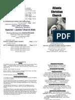 December 16, 2012 Church Bulletin