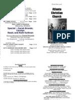 December 23, 2012 Church Bulletin